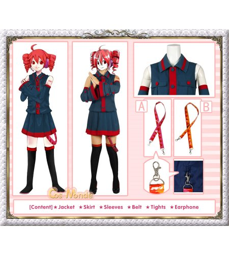 Vocaloid - Kasane Teto Cosplay Costume (Blue) [Deluxe Set]
