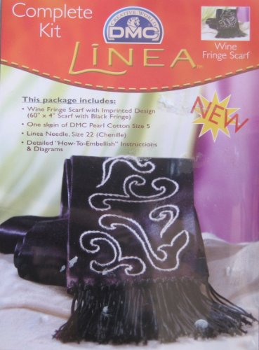 Linea Wine Fringe Scarf: Complete Craft Kit