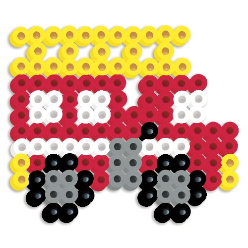 Perler Beads Silicone Pegboard Fused Bead Kit - Fire Truck - 1