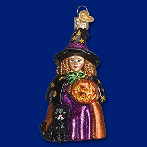 Old World Witch Glass Blown Ornament
