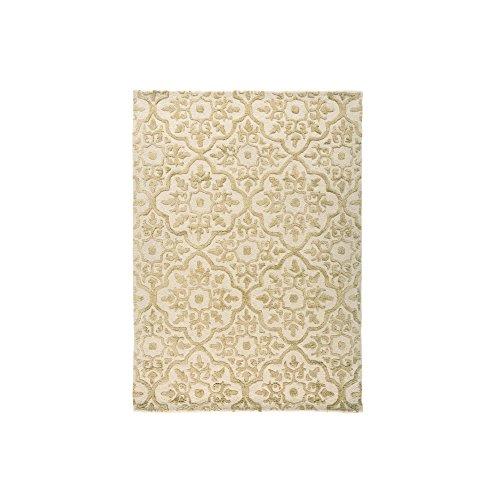 Mayfair Knightsbridge moderno tappeto in lana spesso e morbido effetto 3d Oro in 2misure, Lana, Gold, 120 x 170 cm