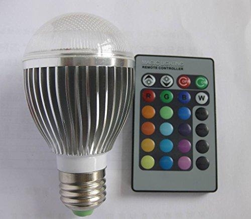 ZGY E27 10W RGB 16 Bunt LED Birne Farbwechsel Lampe Licht mit IR Fernbedienung