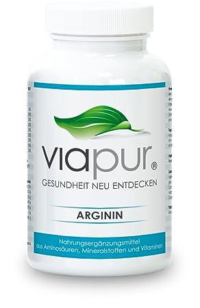 viapur® ARGININ - 120 Kapseln, Aminosäuren, Mineralstoffe und Vitamine