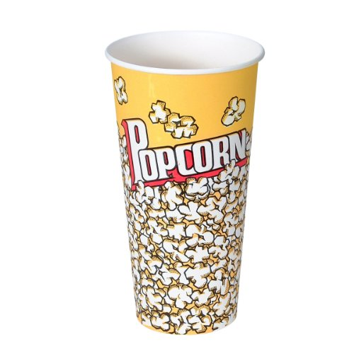 SOLO V24-00061 Treated Paper Popcorn Cup, 24 oz. Capacity, Popcorn Print (Case of 1,000) (24 Oz Popcorn Cups compare prices)