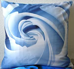 Amazon.com: Decorative Modern Ice Blue Rose Throw Pillow Cover: Home & Kitchen