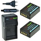 ChiliPower Fuji NP-W126 Kit; 2x Batterie (1350mAh) + Chargeur pour Fuji FinePix HS30EXR, HS33EXR, HS50EXR, X-A1, X-E1, X-E2, X-M1, X-Pro1