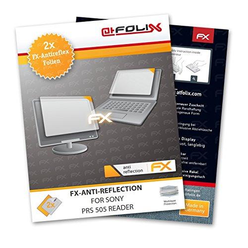 2 x atFoliX Schutzfolie Sony PRS 505 Reader Folie Displayschutzfolie - FX-Antireflex blendfrei
