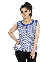Sringar Women's Top (As3081_L_Blue_X-Large)