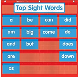 Scholastic Teacher\'s Friend Word Wall Pocket Chart, Multiple Colors (TF5115)