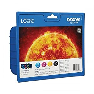 Brother- BROTHER SET OF 4 LC980 Original Ink Cartridges LC-980 Genuine DCP MFC
