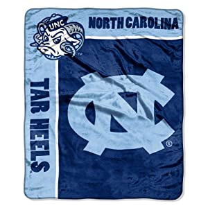 Buy NCAA North Carolina Tar Heels 50-Inch-by-60-Inch Raschel Plush Throw School Spirit Design by Northwest
