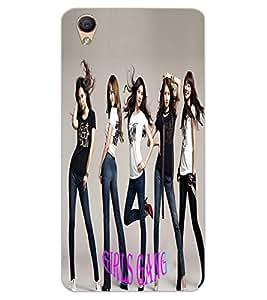 ColourCraft Girls Gang Design Back Case Cover for OPPO F1 PLUS