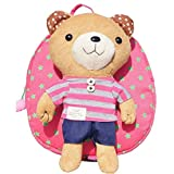 Pixnor® Baby Toddler 3d Bear Anti-lost Backpack Safety Harnesses Strap School Backpack for Baby Kids Bear Doll