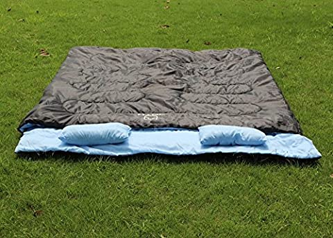 Huge 2 Person Double Sleeping Bag 23F/-5C Camping Hiking 86