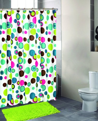 Shower Curtain Blue GreenCheck Price And Reviews 14