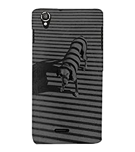 Vizagbeats Black and White Dog Back Case Cover for Lava 800