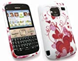 FLASH SUPERSTORE NOKIA E5 GEL SKIN COVER RED HEARTS