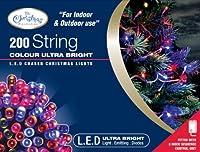 Benross The Christmas Lights 200 Ultra Bright LED String Chaser Lights - Multi-Coloured from Benross Marketing Ltd