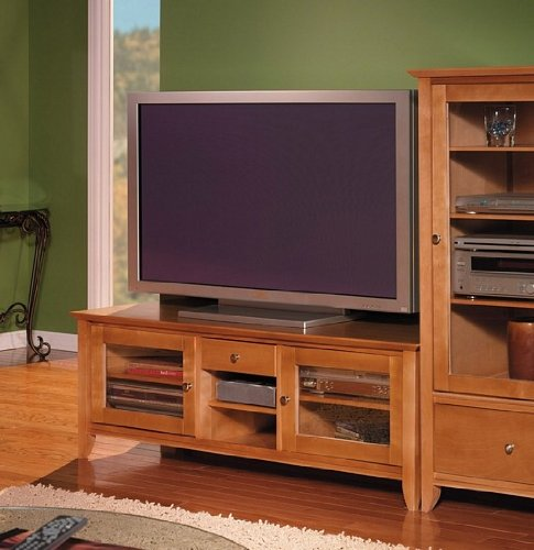 Cheap Bush Light Cherry Veneer Finish 60″ Plasma TV Stand Video Base (VS05250-03)