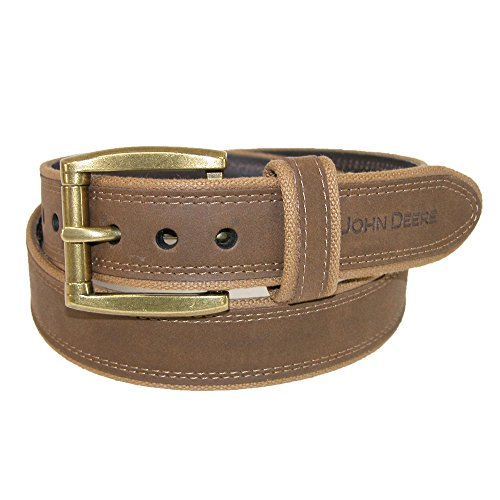 john-deere-mens-canvas-with-crazy-horse-leather-belt-32-brown