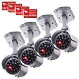 VideoSecu 4 x Dummy Security Camera Fake Infrared LEDs Flashing Light Home Surveillance 1QU