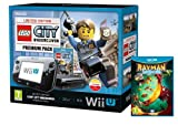 Nintendo Wii U Console, 32GB Premium Pack with Rayman Legends And LEGO City Undercover - Black