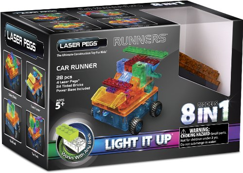 Laser Pegs 8-in-1 Car Runner Building Set (Car Building Set compare prices)
