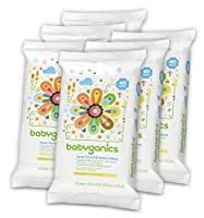 Babyganics Face, Hand & Baby Wipes, Fragrance Free, 240 Count (Contains Six 40-Count Packs), Packaging May Vary from Babyganics