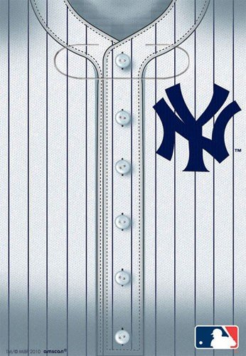 MLB New York Yankees Favor Bags (8ct)