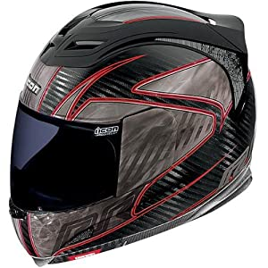 2013 Icon Airframe Motorcycle Helmets - Carbon RR - Red - Small