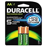 Duracell - Rechargeable AA Batteries - long lasting, all-purpose Double A battery for household and business - 2 count (Tamaño: 2 count)