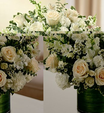 1-800-Flowers – Cherished Memories – All White – Large