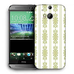 Snoogg Lite Green Pattern Printed Protective Phone Back Case Cover For HTC One M8