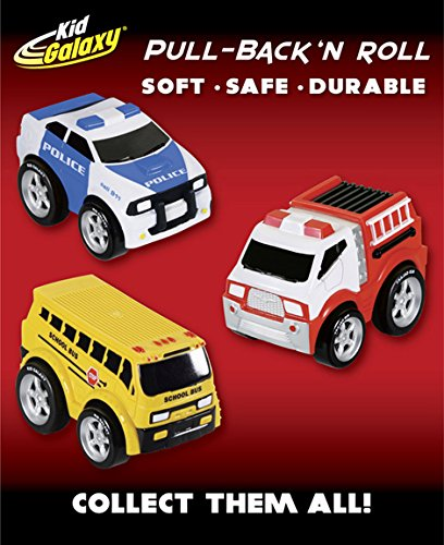 Kid Galaxy Squeezable Pull Back Police Car. Toddler