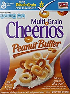 General Mills Cereals Multi Grain Cheerios Peanut Butter Cereal, 11.3 Ounce