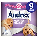Andrex Puppies on a Roll Toilet Tissue 9 per pack case of 1
