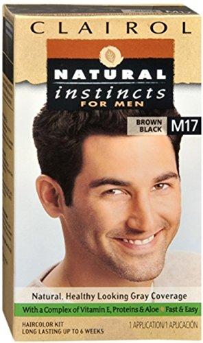 Clairol Natural Instincts Hair Color For Men M17 Brown Black 1 Kit (Pack of 3)