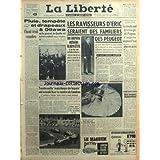 LIBERTE (LA) du 19/04/1960 - VOYAGE DE DE GAULLE AU CANADA A OTTAWA - LES RAVISSEURS D'ERIC SERAIENT DES FAMILIERS...