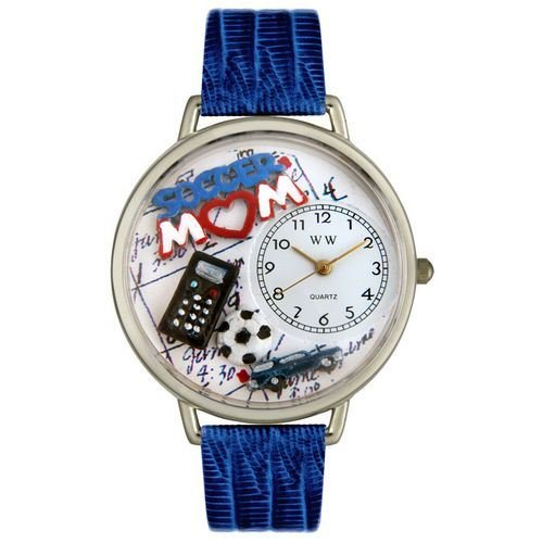 Whimsical Watches Unisex U1010012 Soccer Mom Royal Blue Leather Watch