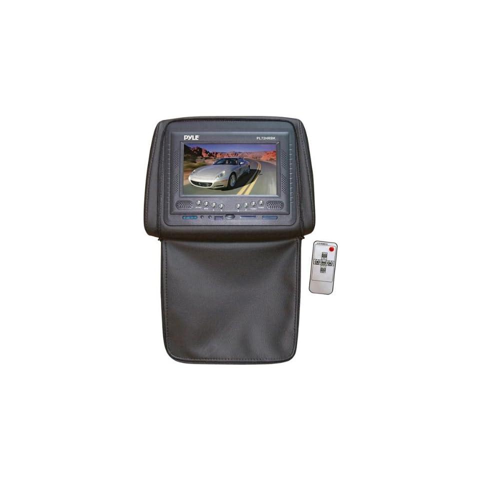 Black 7 Adjustable Headrest TFT/LCD Monitor