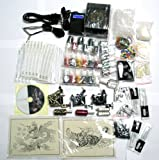 Tattoo Kit 3 Machine Guns Power Supply Needles 24 Colors K5a