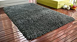 Merax 5 X 8 Fireproof Shag Rug Shag Collection Contemporary Living and Bedroom Soft Shaggy Area Rug (Charcoal Grey)