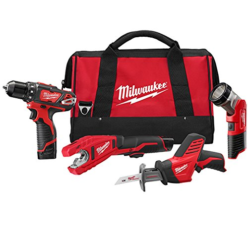 Milwaukee 2499-24 M12 Combo 3/8 Drvdrl/Hackz/Copper Tube Cutter/Lgt (Milwaukee Copper Cutter compare prices)