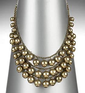 Multi-Strand Baubles Collar Necklace