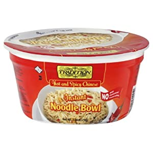 Tradition Hot And Spicy Noodle Bowl No Msg 245-ounce Pack Of 12 by Tradition