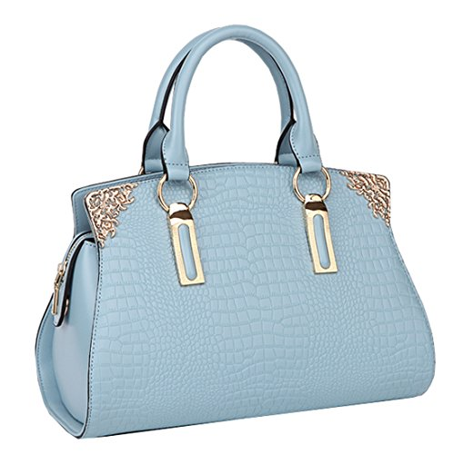 Heshe 2015 New Lady's Genuine Leather Luxury Fashion Crocodile Candy Color Tote Top Handle Crossbody Shoulder Summer Satchel Purse Women's Handbag