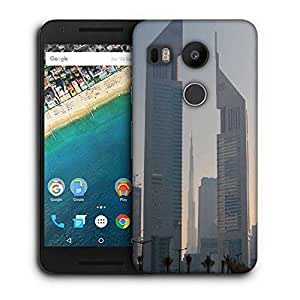 Snoogg Tall Buildings Printed Protective Phone Back Case Cover For LG Google Nexus 5X