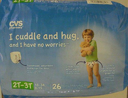 CVS Pharmacy 26-ct Boys Training Pants Size 2T-3T, 1 Package - 1