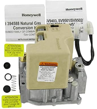 SV9502H2522 HONEYWELL SMARTVALVE GAS VALVE & INTERMITTENT PILOT SYSTEM 1/2 X 1/2 INCH SLOW OPENING NAT GAS WITH 15 SECOND PREPURGE INCLUDES 395474 EXT HARNESS & 39691 LP CONVERSION KIT - REPLACES
