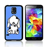 'CUTE SPOTTY DOG' (S5H) TPU Gel Skin for SAMSUNG GALAXY S5 Case Cover Shock Resistant Protection - Fast Ship (Baby Blue)